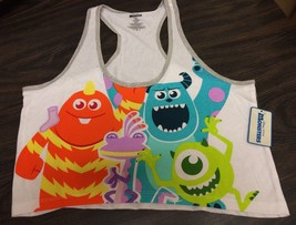 Juniors Monsters Inc Disney Pixar Racerback Crop Tank Sulley Mike Wazowski - $10.99
