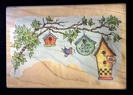 1996 Stampendous Home Tweet Home Wood Mounted Rubber Stamp PO26 - $12.86
