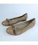 AGL Attilio Giusti Leombruni Womens Leather Ballet Flats Beige Size 37.5 - $49.50