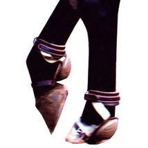 Classic Equine Leather Horse Leg Skid Boot Nylon Soft U-200N - $98.99