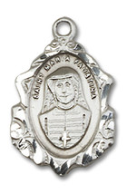 Sterling Silver Maria Faustina Pendant 3/4 x 1/2 inch with 18 inch Chain - $55.13