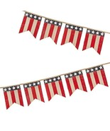 Darice Patriotic 4th of July Decor - American Flag Burlap Pennant Garland - $14.80