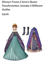 Disney Frozen 2 Annas Queen Transformation Doll with 2 outfits & hair st... - $39.58