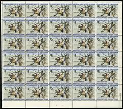 RW41, Mint VF Sheet of 30 $5 Duck Stamps CV $648.00 - Stuart Katz - $300.00