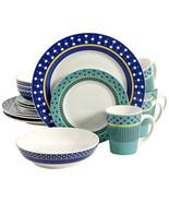 Gibson Home Lockhart 16 Piece Round Stoneware Dinnerware Set - $66.36