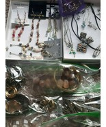 Huge Jewelry Lot - Medium Flat Rate Box Stuffed -  Crafters Mix Set - $98.99