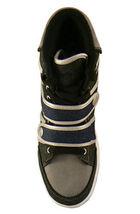 Public Royalty Noir Bleu Zaq Haut Jeans Chaussures Baskets Nib image 5