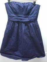 W13895 Womens DAVIDS BRIDAL Plum Purple 83312 Strapless BRIDESMAID DRESS 10 - $19.25