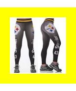 NFL PITTSBURGH STEELERS Leggings -#43 Women Fan Gear  // Football Fan Gi... - $22.99
