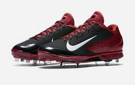 Nike Air Men's Huarache Pro Low Metal Baseball Cleat 599233-019, Black/Red Sz 14 - $29.70
