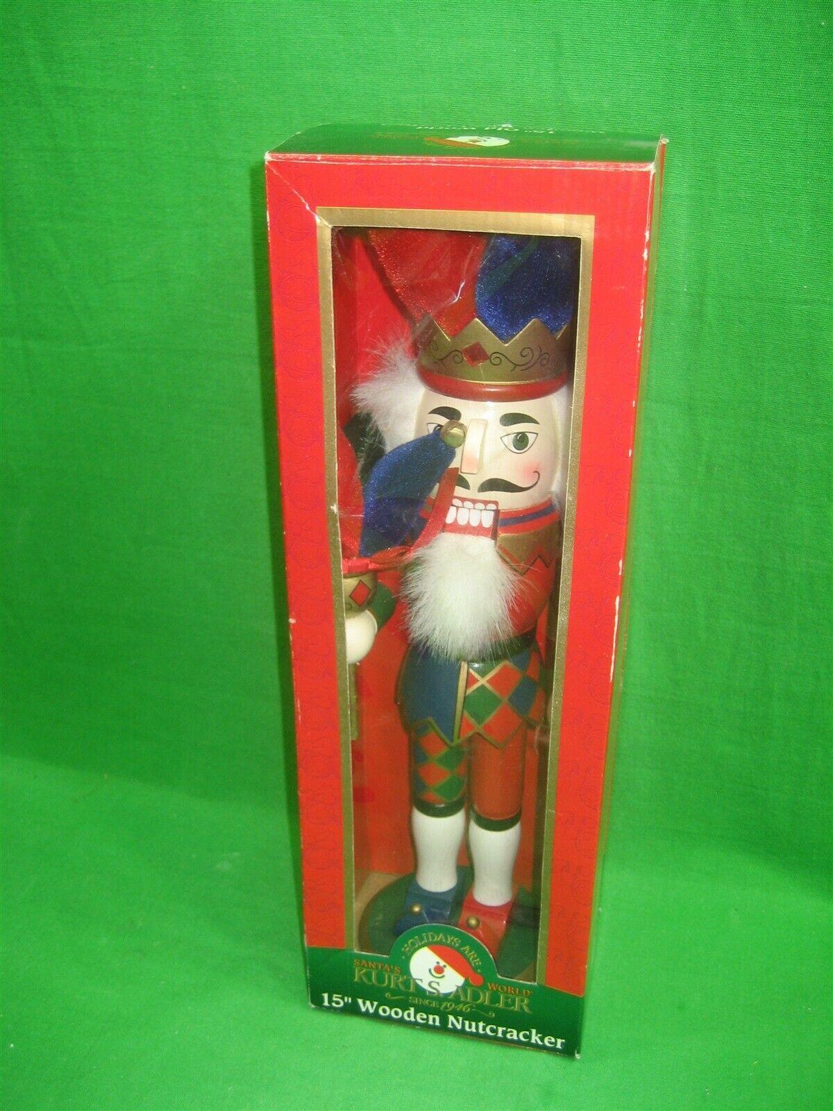 Christmas Nutcracker ~ Kurt Adler ~ Old World ~ Jester ~ 15 Inches Tall - $20.53