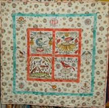PA Dutch Frankturs & Flourishes Quilt / Wall Hanging - $42.00