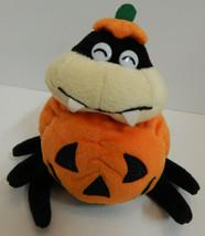 """Halloween Black Orange Plush Spider Fiesta Pumpkin Body 5 1/2"""" - $5.89"""
