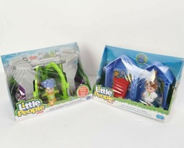 Fisher Price Lot 2 Little People Sets Fold N Go Checkup Doctor Jester Pop Castle - $34.99