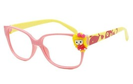 Cute Pink and Yellow Party Decorative Glasses Kids' Glasses Frame Replacement NO
