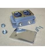 Hubbell B423341 Two Gang Cast Iron Rectangular Box - $109.85
