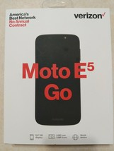VERIZON MOTO E5 GO Black MOTOROLA BRAND NEW PREPAID CELL PHONE - $60.76