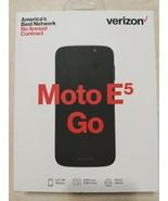 VERIZON MOTO E5 GO Black MOTOROLA BRAND NEW PREPAID CELL PHONE - $60.76