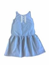 Crazy 8 Girls Blue  Denim Dress Embroidery Size 8 Cool Summer Spring - $8.79