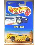 1991 Hot Wheels Blue/White Card Collector #231 MINI TRUCK Orange w/Chrom... - $9.50