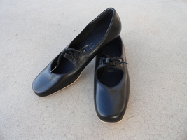 Square Dancing Black Mary Jane Shoes 8.5 Womens Tictactoes Nice - $34.99
