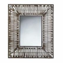 Accent Plus Faux Rattan Rectangular Wall Mirror - $80.98