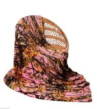 "PINK CAMO Camouflage Woods Luxury Twin Soft Fleece CASHMERE Blanket 60"" ... - $39.49 CAD"
