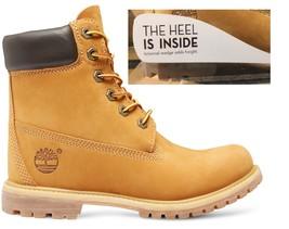 """Timberland Womens 6"""" Inch Premium Waterproof Internal Wedge Yellow Boots 8226 Us - $119.99"""