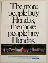 1987 Print Ad Honda Cars The More People Buy 8 Cars Shown - $11.96