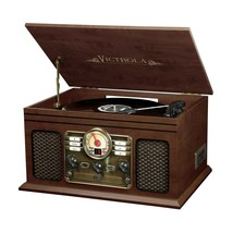 Innovative VTA-200B-ESP 6-in1 Victrola Record Player Turntable Cassette ... - £80.79 GBP