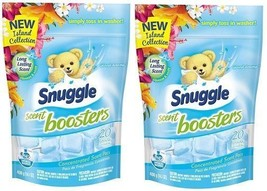 Snuggle Scent Boosters Island Dream Concentrated Scent Pacs 2 Bag Pack - $28.66
