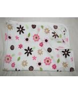 Circo Fleece Baby Blanket Pink Brown Flowers Super Soft Girls Multi Purpose - $27.22