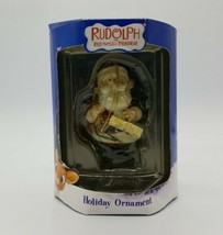 "Rudolph the Red Nose Reindeer ""Santa Claus"" Holiday Ornament 2004 Enesco in Box - $22.65"