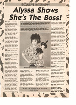 Alyssa Milano teen magazine pinup clipping she's the boss working out