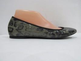J. Crew Cece Size 8M Patent Leather Animal Print Ballet Flats Shoes For ... - $27.69