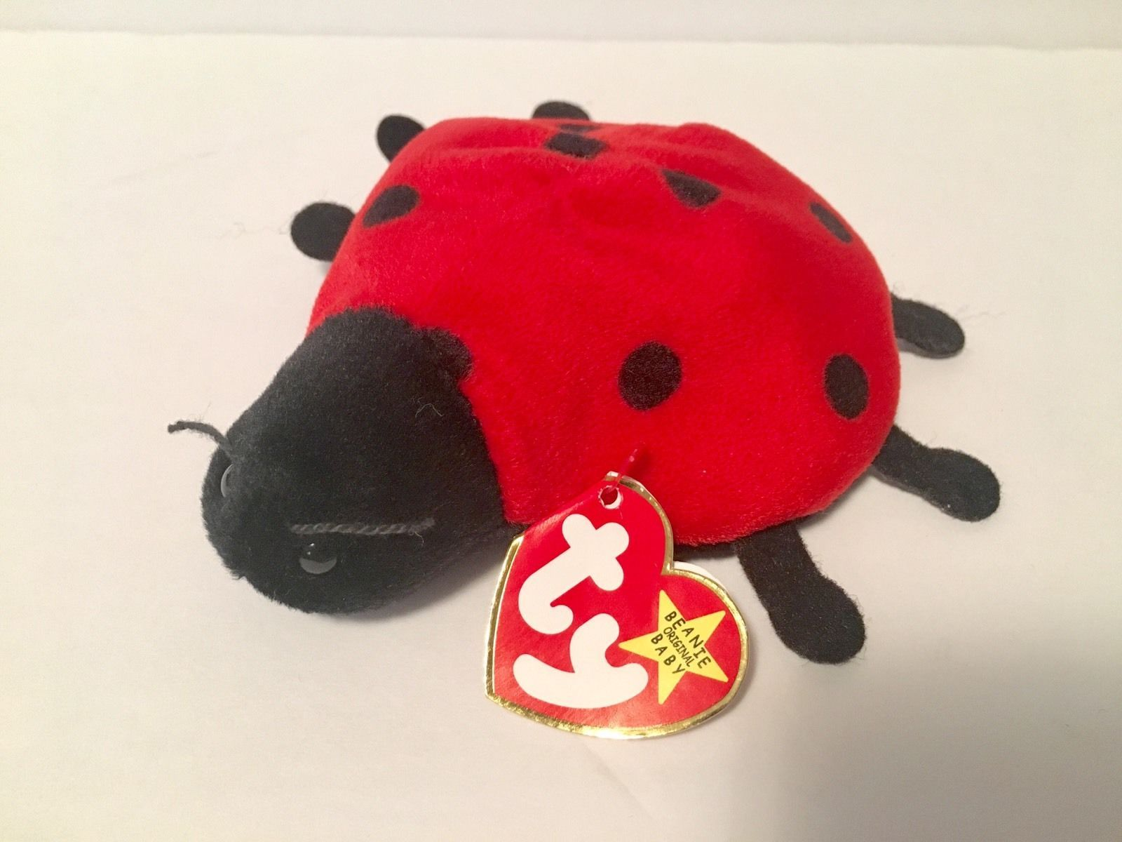 Ty Beanie Babies Plush Beanbag Lucky the Ladybug Red with 10 Black Spots