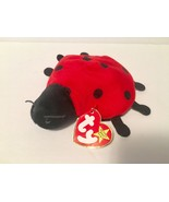 Ty Beanie Babies Plush Beanbag Lucky the Ladybug Red with 10 Black Spots - $8.59