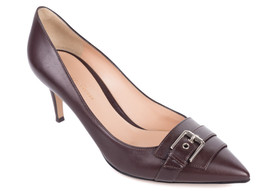 Gianvito Rossi 70 Brown Leather Buckled Pointed Toe Pumps IT37/US7~RTL$675 - $213.75