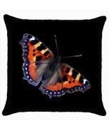 Throw pillow case butterfly tortoiseshell eurasian - $19.50