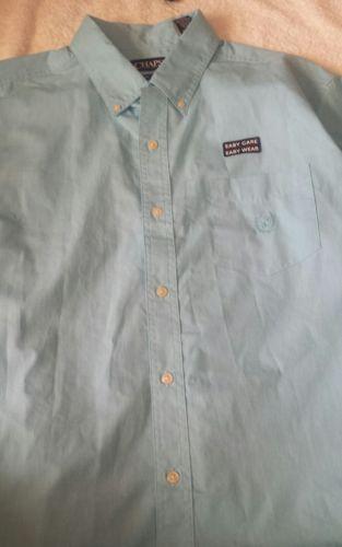 chaps men's classic-fit poplin button-down shirt nwt
