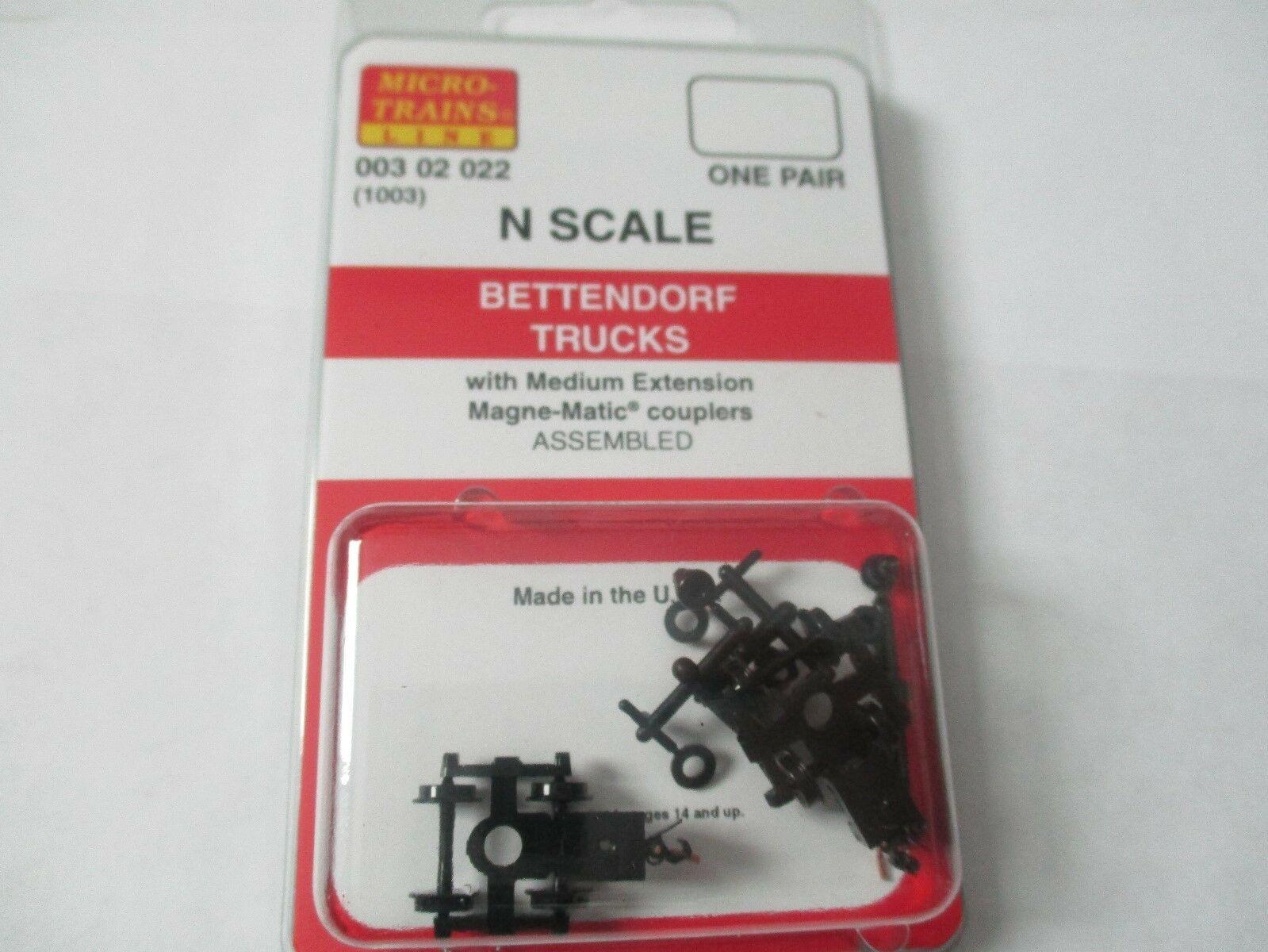 Micro-Trains Stock # 00302022 (1003)  Bettendorf Trucks Medium Extension N-Scale