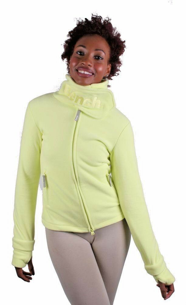 Bench Funnel H Fleece Zip Sweater Snowboarding Yellow Jacket BLEA0021 NWT