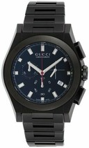 Gucci YA115237 Watch Pantheon Black Dial Date Stainless Steel Belt FREE ... - $1,057.19
