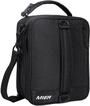 Mier Insulated Lunch Box Bag Expandable Lunch Pack For Men, Women, Black - $25.73