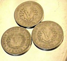 Liberty Head Nickel Five-Cent Pieces 1910 - 1912 AA20-CNN2140 Antique image 8