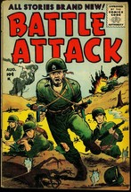 Battle Attack #5 1955- Sal Trapani- Tommy Gun cover VG - $37.83