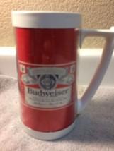 (2) VINTAGE THERMO-SERV BUDWEISER  BEER INSULATED MUG--SET OF 2---FREE S... - $28.78