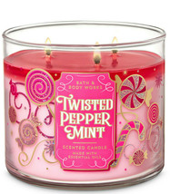 Bath & Body Works Twisted Peppermint Three Wick 14.5 Ounces Scented Candle - $22.49