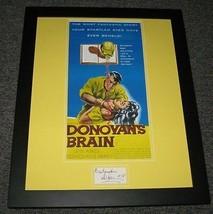 Lew Ayres Signed Framed Donovan's Brain 16x20 Poster Display JSA - $112.19