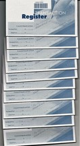 "10 Check Book Register,  3/4"" x 2 7/8"", - $14.84"